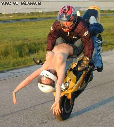 Experiment na motocyklu
